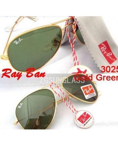 Rayban 3025 Damla Gold Green Ray-ban Günes Gözlügü
