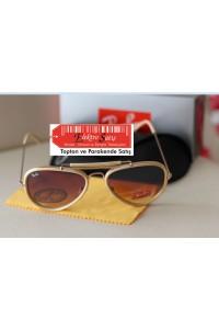 Rayban Unisex Cix Model Krem Çerçeve Kahverengi Cam Güneş Gözlüğü