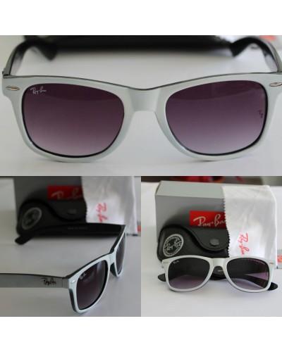 Rayban 2140 Wayfarer Beyaz Gri Dış Çerçeve İçi Siyah Güneş Gözlüğü