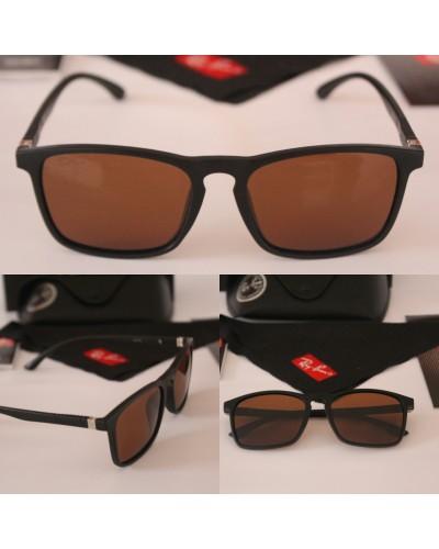 Rayban Polarize Kahverengi Zarif Çerçeve Unisex Güneş Gözlüğü