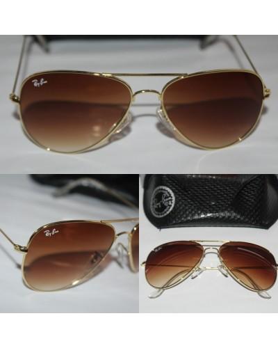 Rayban 3025 Damla Model Altın Çerçeve Kahverengi Cam Unisex Güneş Gözlüğü