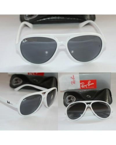 Rayban 4125 Cat Model Beyaz Unisex Güneş Gözlüğü