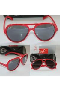 Rayban 4125 Cat Model Kırmızı Unisex Güneş Gözlüğü