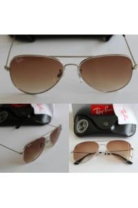 Rayban 3025 Damla Model Gümüş Çerçeve Kahverengi Cam Unisex Güneş Gözlüğü