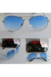 Rayban 3025 Damla Model Gümüş Çerçeve Mavi Cam Güneş Gözlüğü