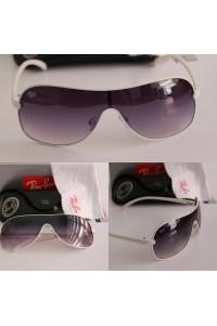 Rayban 4125 Tarz Beyaz Çerçeve Kalın Saplar Unisex Güneş Gözlüğü
