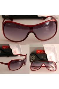 Rayban 4125 Kızıl Çerçeve Siyah Cam Unisex Gözlük
