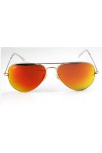 Rayban 3025 Damla Sarı Kızıl Aynalı Cam Gözlük Mineral Kırılmaz Cam